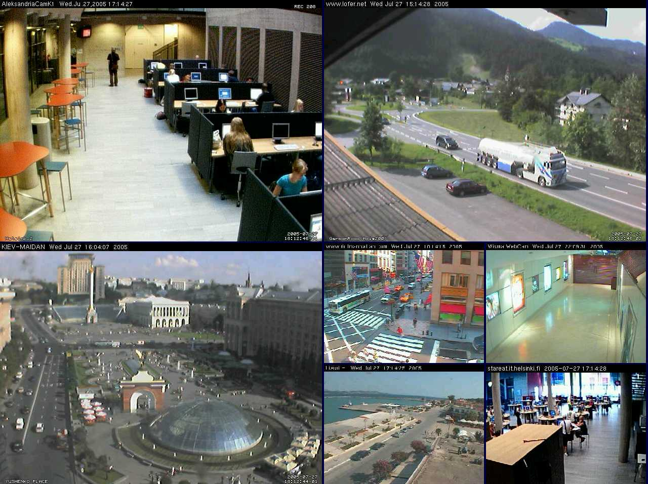 B Видеонаблюдение через веб камеру /b.